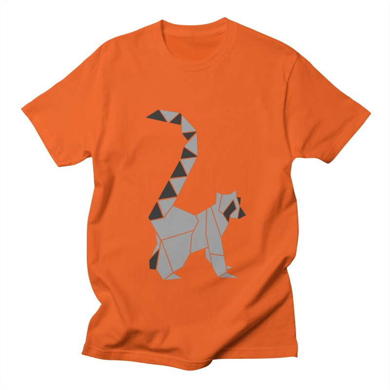 Lemur origami Men's Regular T-Shirt by Synner Design