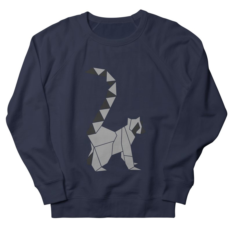 Lemur origami Men's French Terry Sweatshirt by Synner Design
