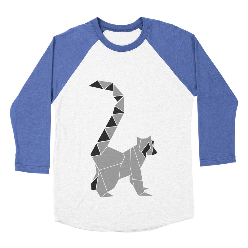 Lemur origami Women's Baseball Triblend Longsleeve T-Shirt by Synner Design