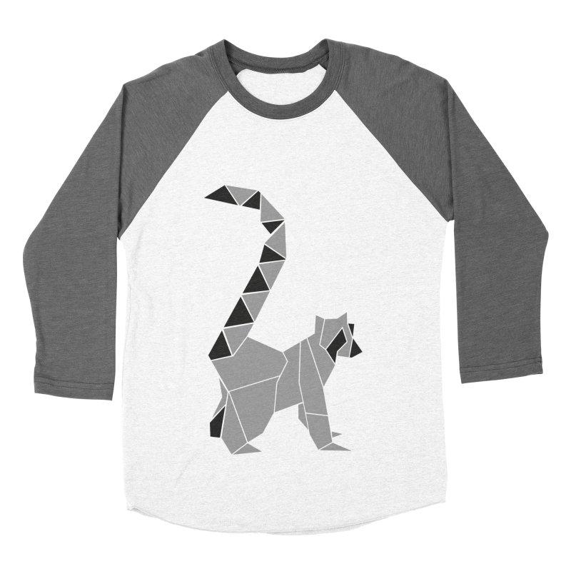 Lemur origami Men's Baseball Triblend Longsleeve T-Shirt by Synner Design