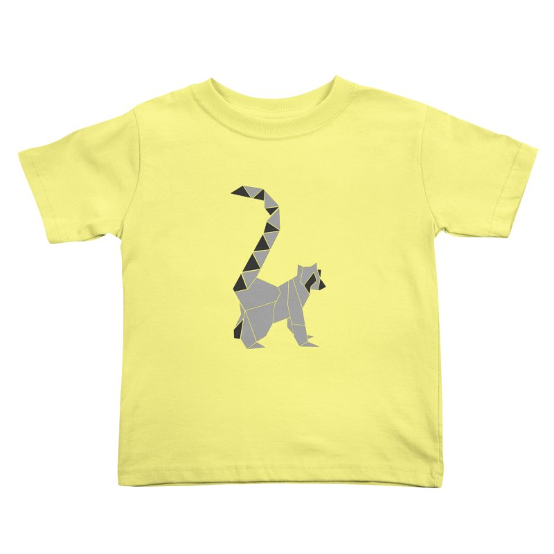Lemur origami Kids Toddler T-Shirt by Synner Design