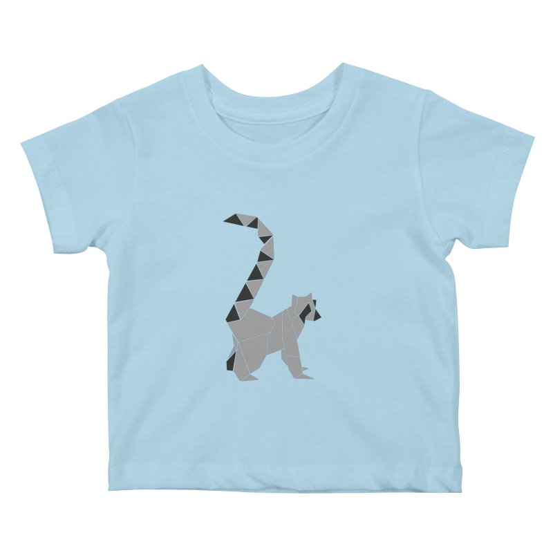 Lemur origami Kids Baby T-Shirt by Synner Design