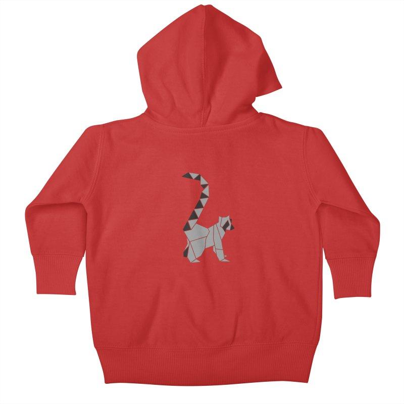 Lemur origami Kids Baby Zip-Up Hoody by Synner Design