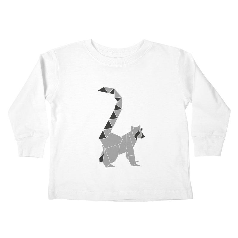 Lemur origami Kids Toddler Longsleeve T-Shirt by Synner Design