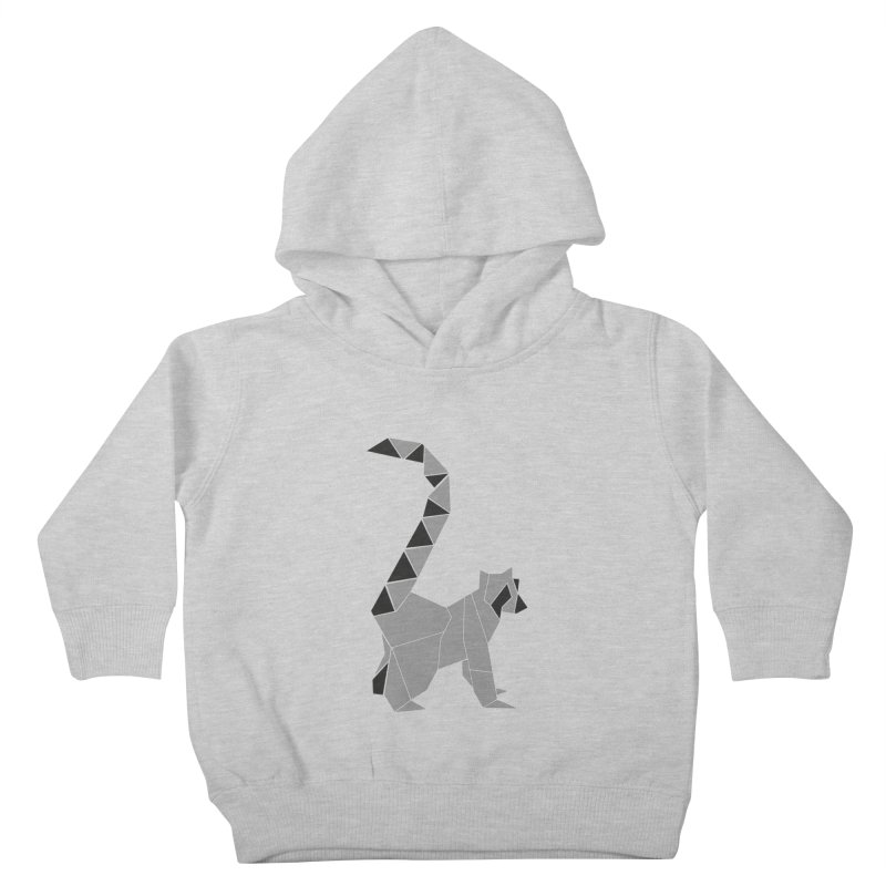 Lemur origami Kids Toddler Pullover Hoody by Synner Design