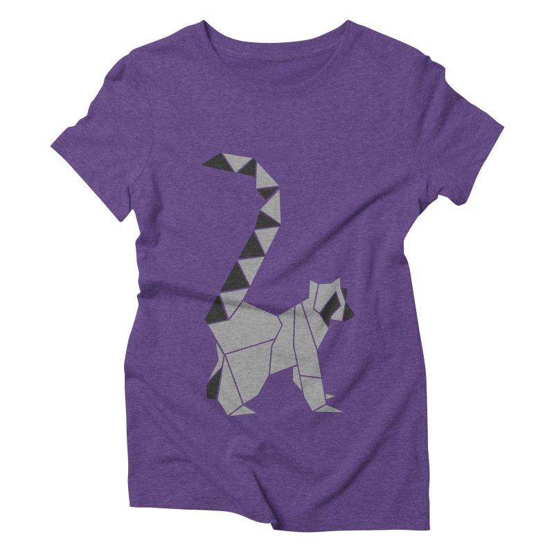 Lemur origami Women's Triblend T-Shirt by Synner Design
