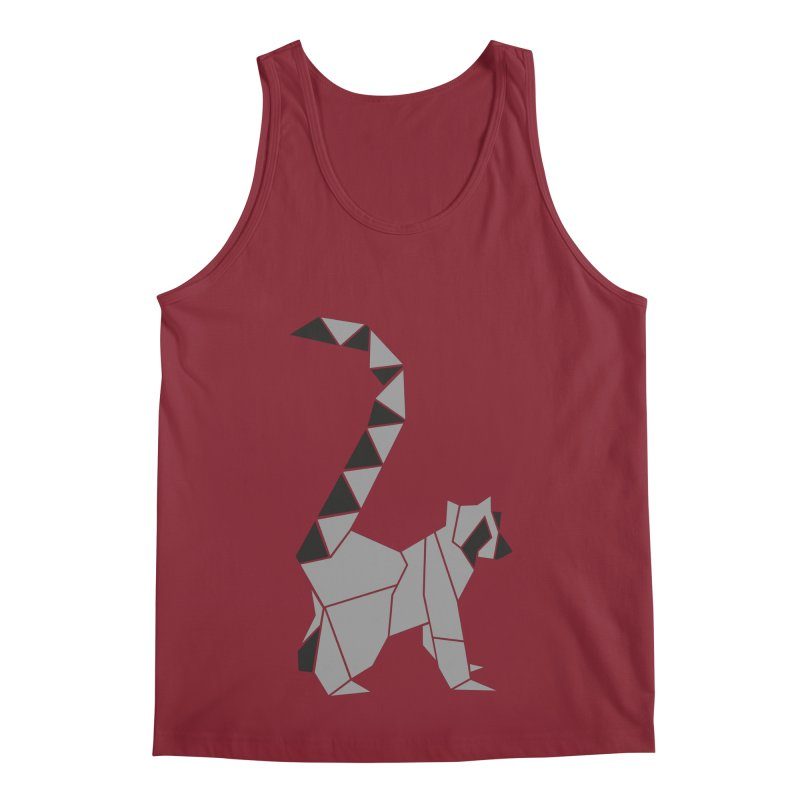 Lemur origami Men's Regular Tank by Synner Design