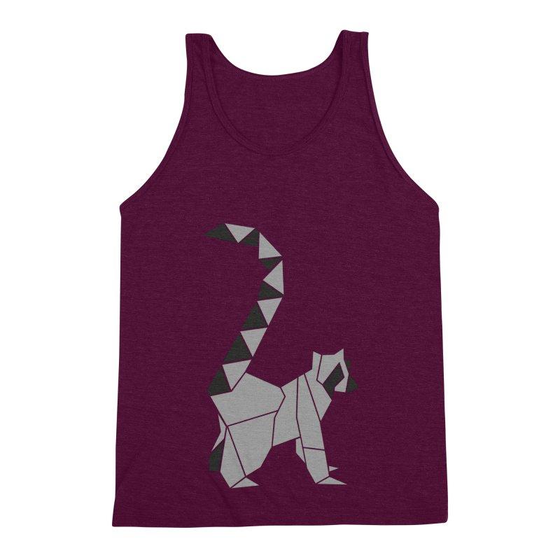Lemur origami Men's Triblend Tank by Synner Design