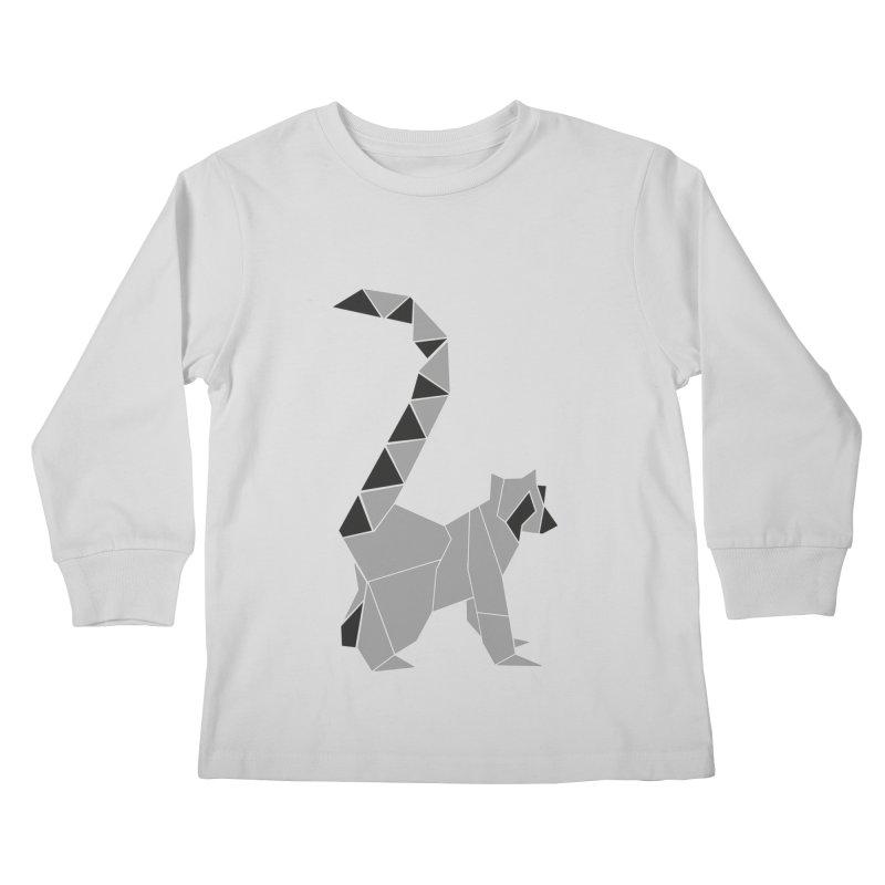 Lemur origami Kids Longsleeve T-Shirt by Synner Design
