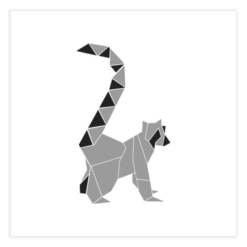 Lemur origami Home Fine Art Print by Synner Design