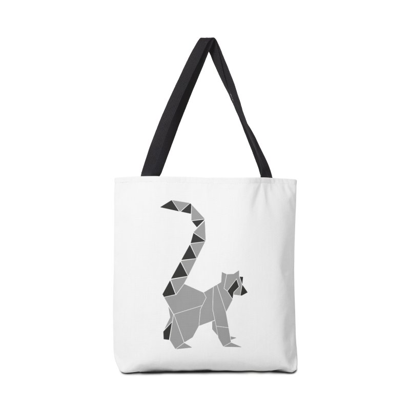 Lemur origami Accessories Tote Bag Bag by Synner Design