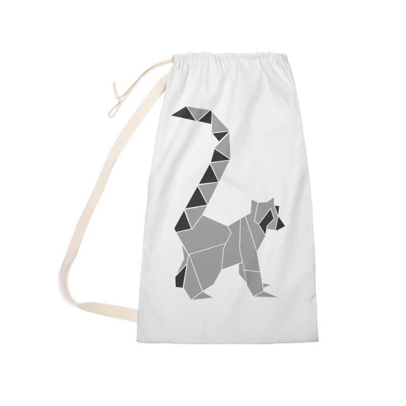 Lemur origami Accessories Laundry Bag Bag by Synner Design