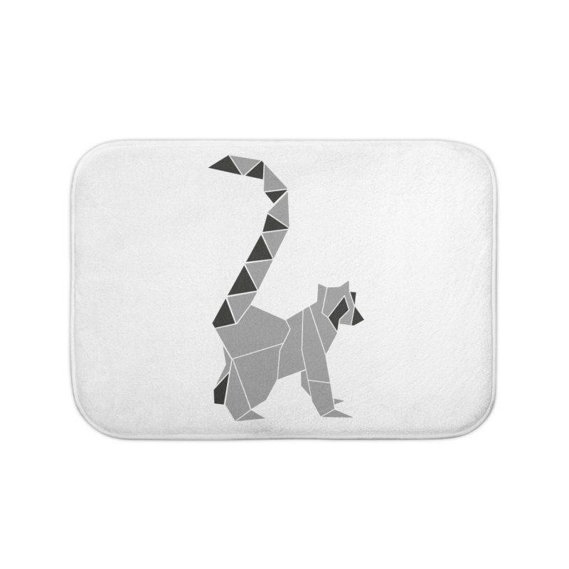 Lemur origami Home Bath Mat by Synner Design