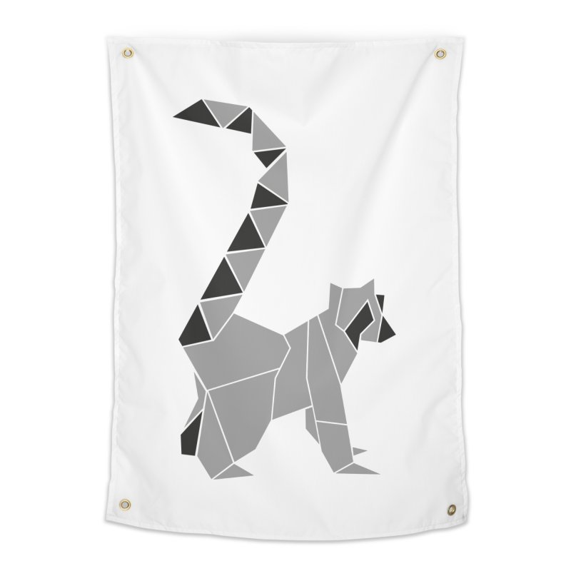 Lemur origami Home Tapestry by Synner Design
