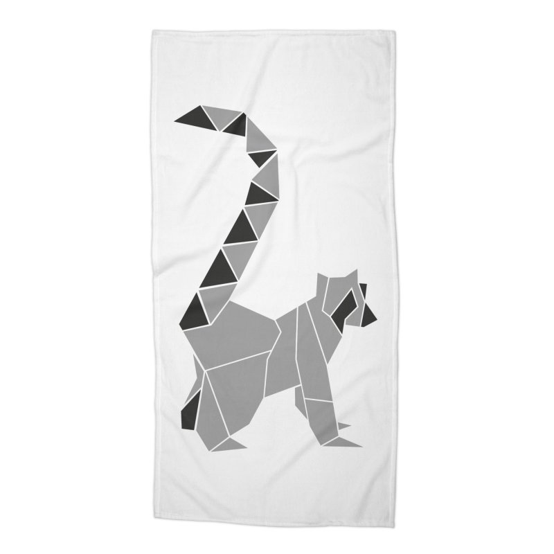 Lemur origami Accessories Beach Towel by Synner Design