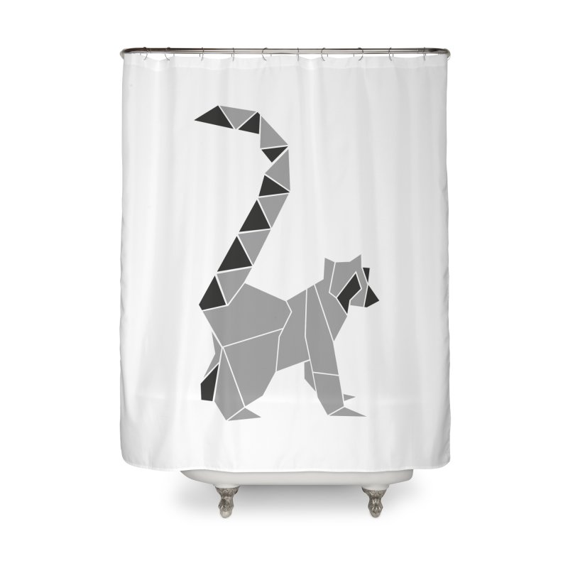 Lemur origami Home Shower Curtain by Synner Design