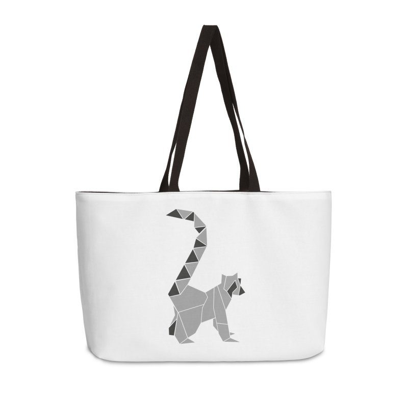 Lemur origami Accessories Weekender Bag Bag by Synner Design