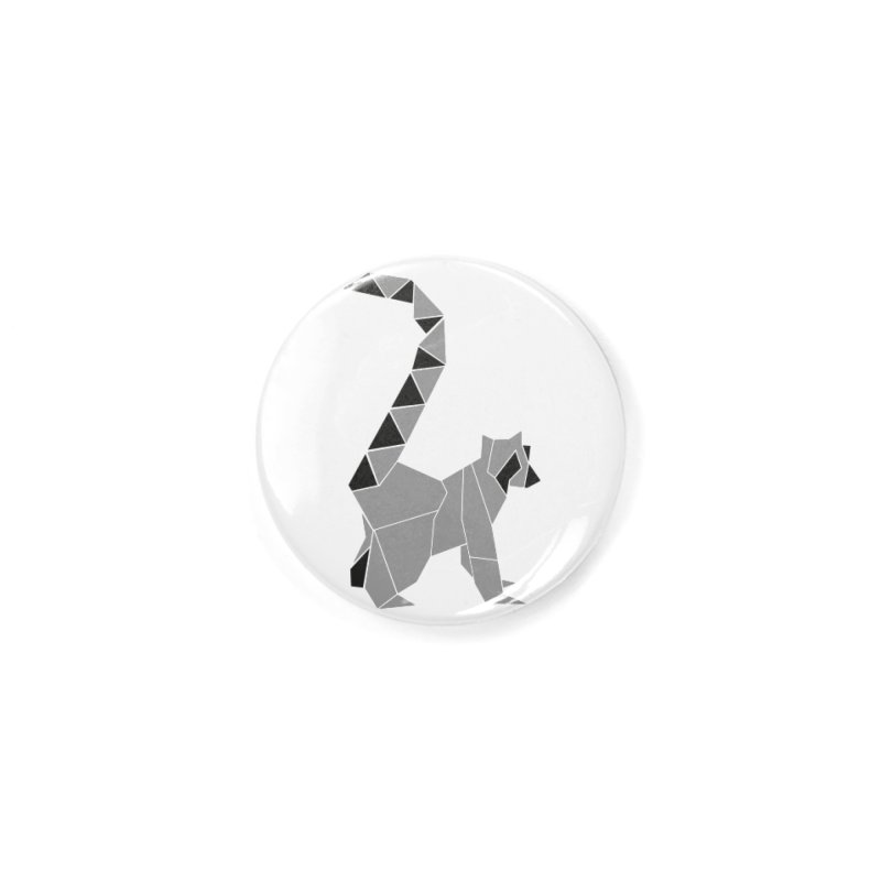 Lemur origami Accessories Button by Synner Design