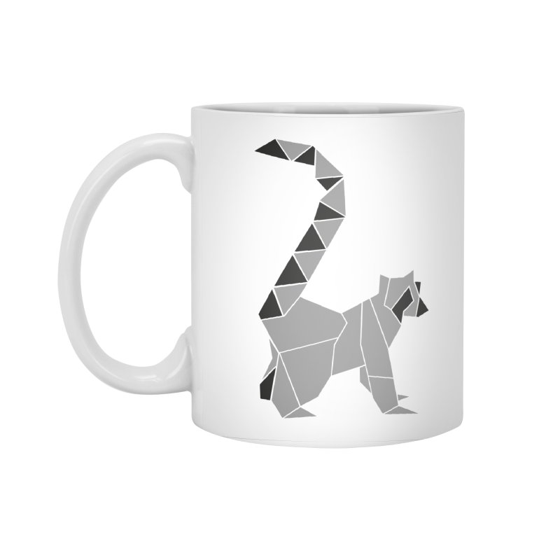 Lemur origami Accessories Standard Mug by Synner Design