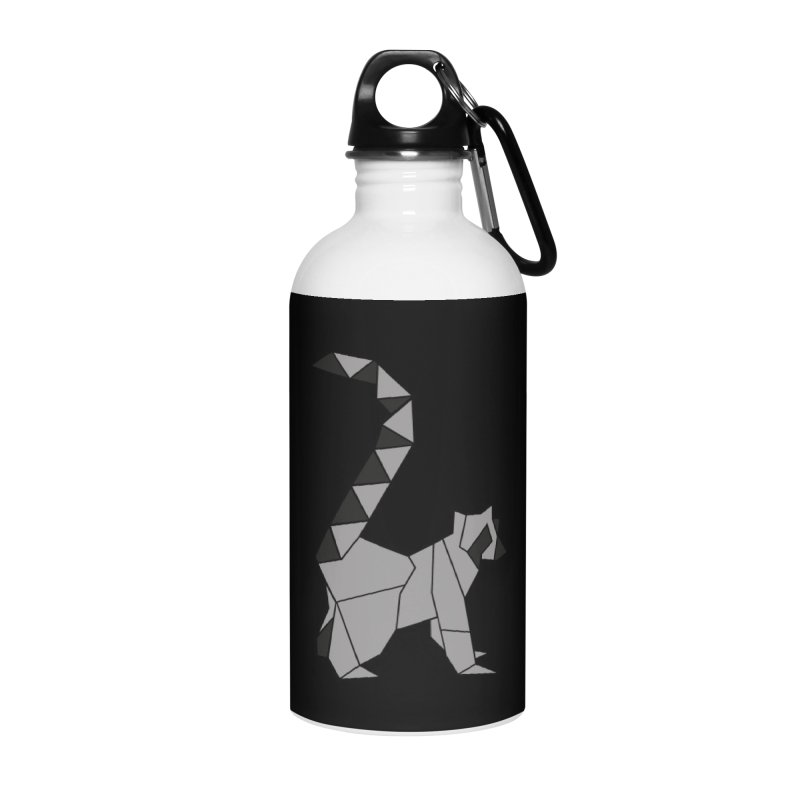 Lemur origami Accessories Water Bottle by Synner Design
