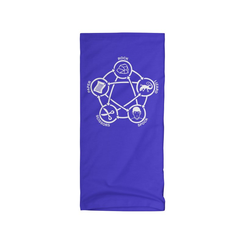 Rock Paper Scissors Lizard Spock Accessories Neck Gaiter by Synner Design