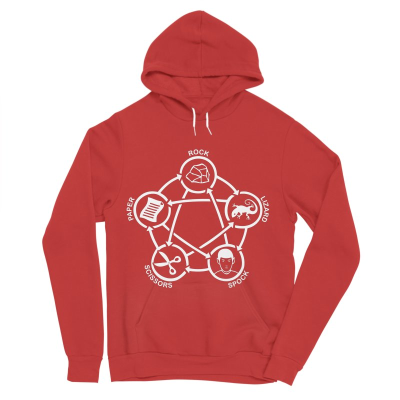 Rock Paper Scissors Lizard Spock Men's Pullover Hoody by Synner Design