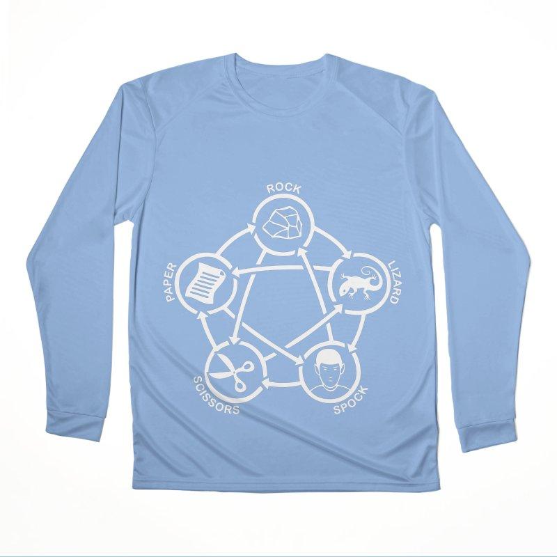 Rock Paper Scissors Lizard Spock Men's Performance Longsleeve T-Shirt by Synner Design