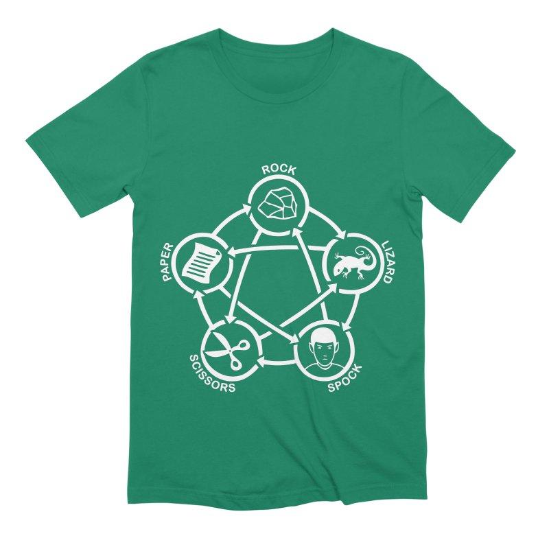 Rock Paper Scissors Lizard Spock Men's Extra Soft T-Shirt by Synner Design