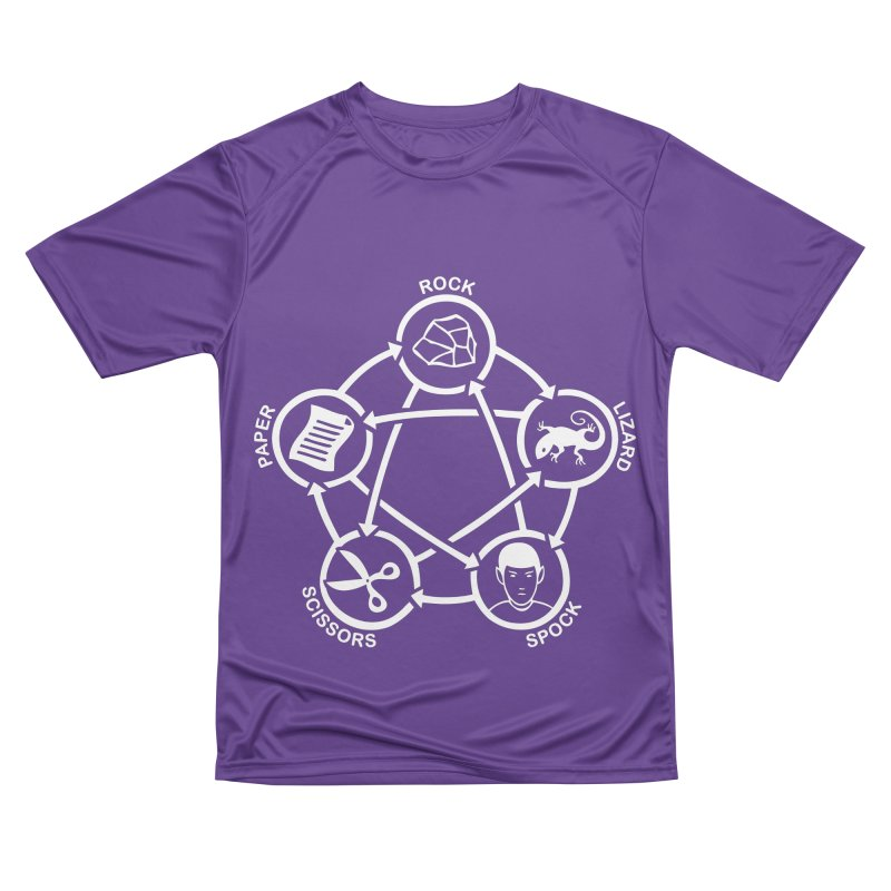 Rock Paper Scissors Lizard Spock Men's Performance T-Shirt by Synner Design