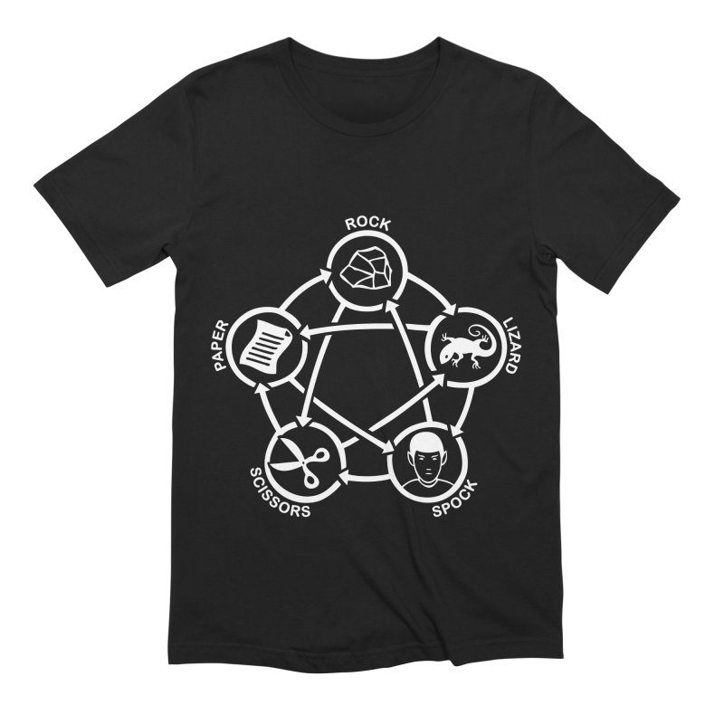 Rock Paper Scissors Lizard Spock Men's Extra Soft T-Shirt by Synner Design