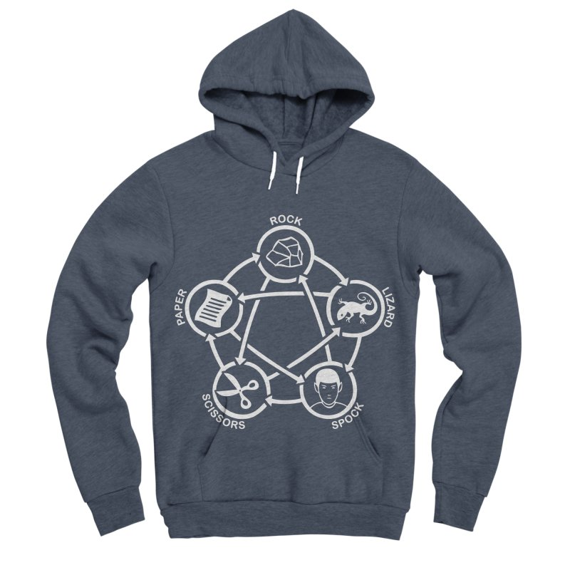 Rock Paper Scissors Lizard Spock Men's Sponge Fleece Pullover Hoody by Synner Design