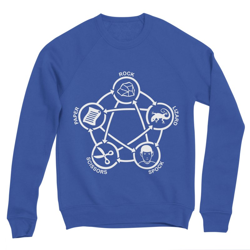 Rock Paper Scissors Lizard Spock Men's Sponge Fleece Sweatshirt by Synner Design