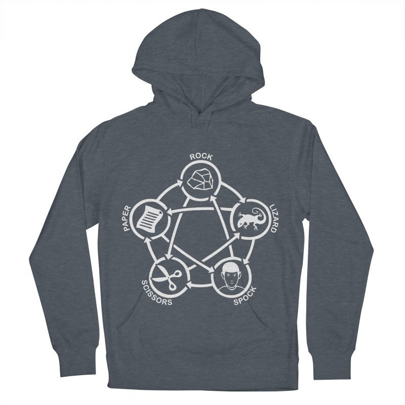 Rock Paper Scissors Lizard Spock Women's French Terry Pullover Hoody by Synner Design