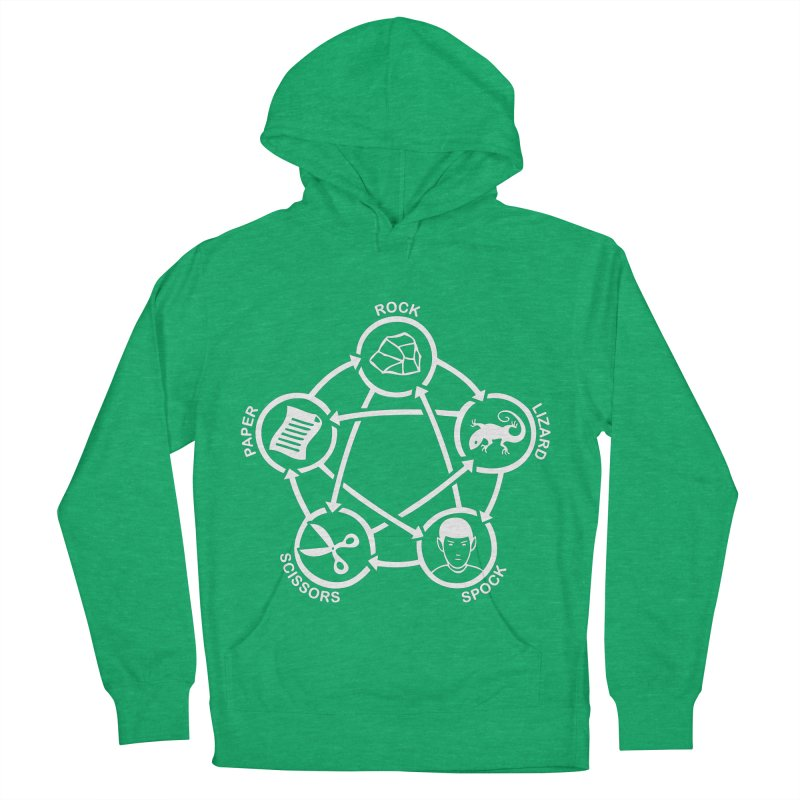 Rock Paper Scissors Lizard Spock Men's French Terry Pullover Hoody by Synner Design