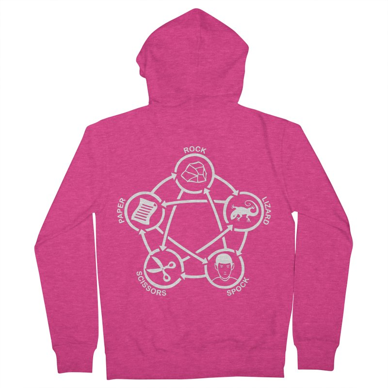 Rock Paper Scissors Lizard Spock Women's French Terry Zip-Up Hoody by Synner Design