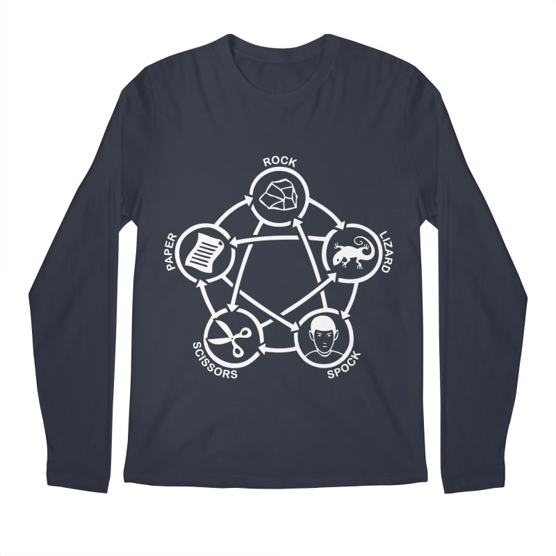Rock Paper Scissors Lizard Spock Men's Regular Longsleeve T-Shirt by Synner Design