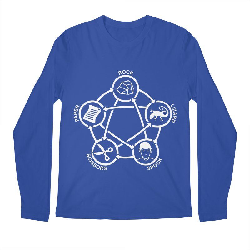 Rock Paper Scissors Lizard Spock Men's Regular Longsleeve T-Shirt by Synner Design