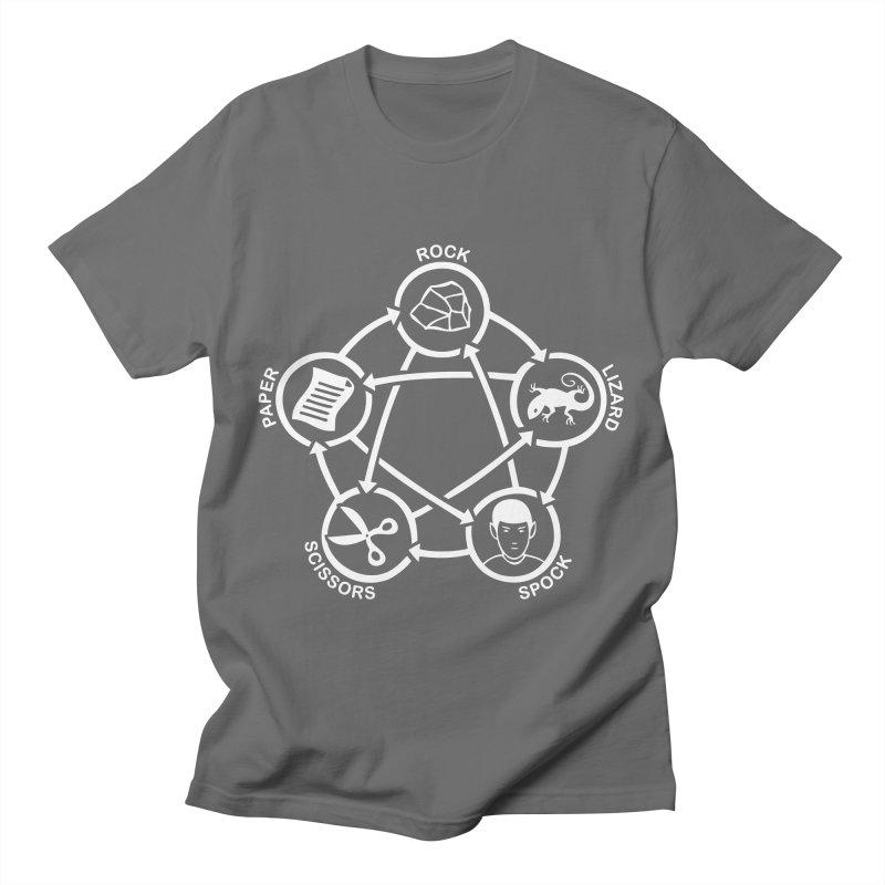 Rock Paper Scissors Lizard Spock Men's T-Shirt by Synner Design