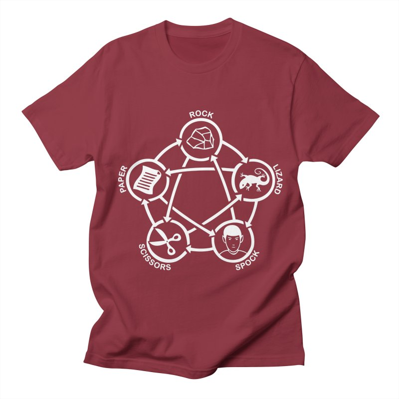 Rock Paper Scissors Lizard Spock Women's Regular Unisex T-Shirt by Synner Design