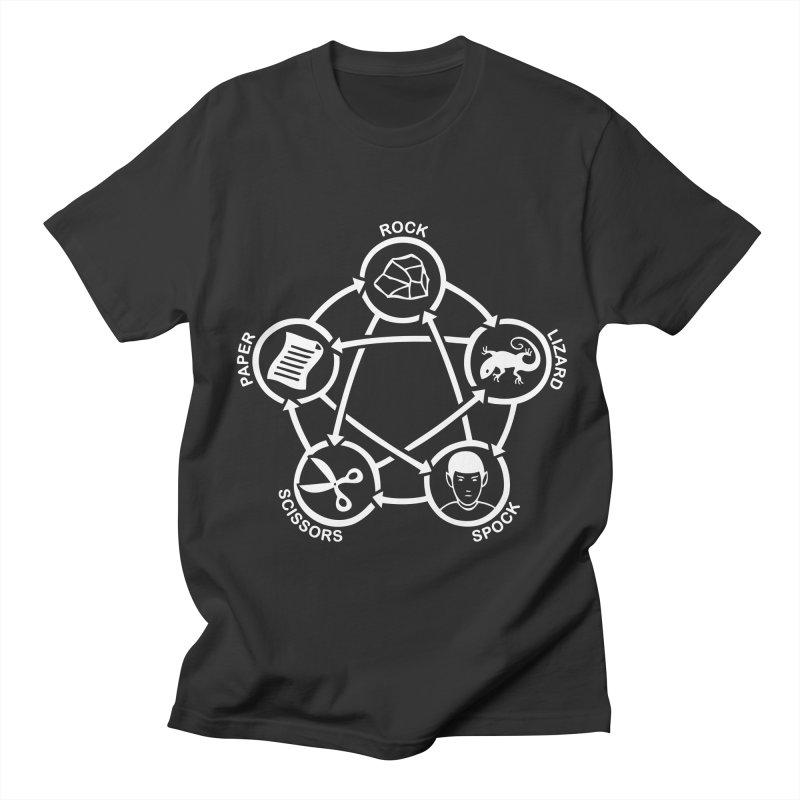 Rock Paper Scissors Lizard Spock Men's Regular T-Shirt by Synner Design