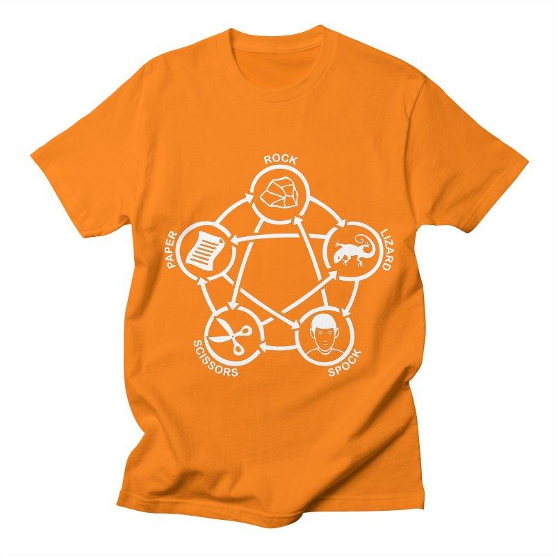 Rock Paper Scissors Lizard Spock Women's Regular Unisex T-Shirt by Synner Design