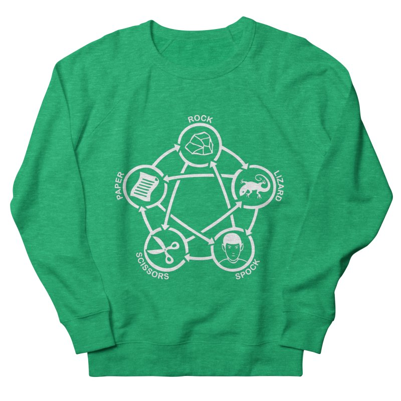 Rock Paper Scissors Lizard Spock Women's Sweatshirt by Synner Design