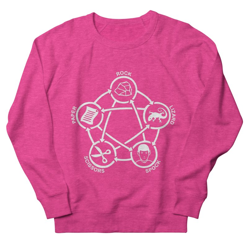 Rock Paper Scissors Lizard Spock Women's French Terry Sweatshirt by Synner Design