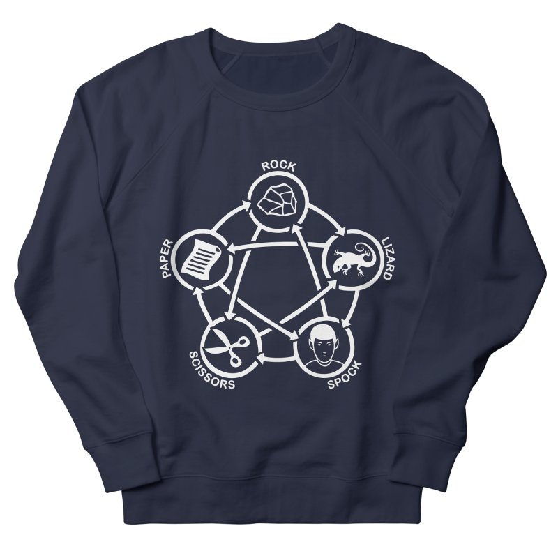 Rock Paper Scissors Lizard Spock Men's French Terry Sweatshirt by Synner Design
