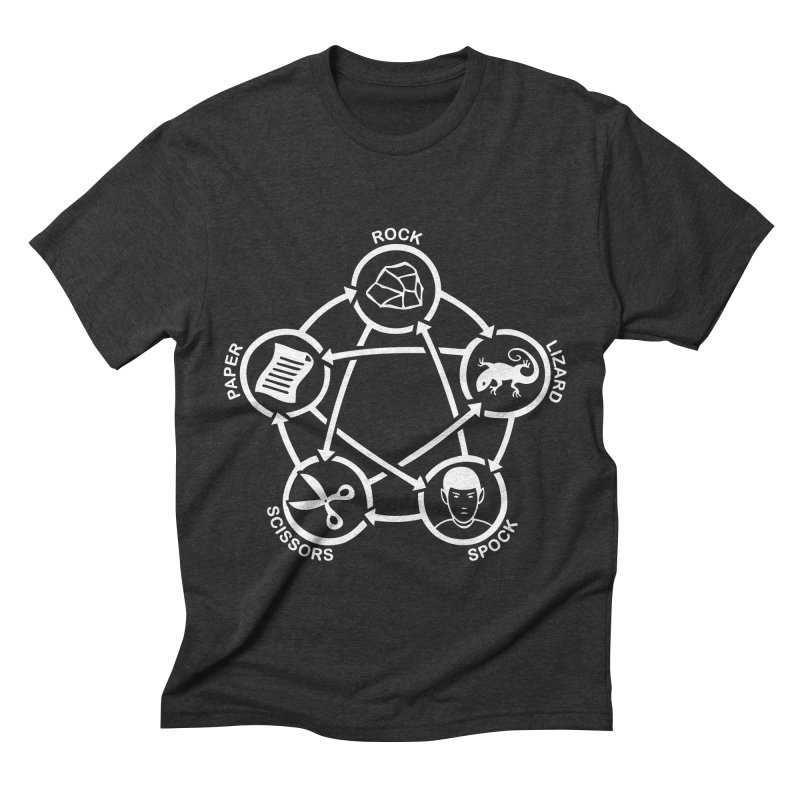 Rock Paper Scissors Lizard Spock Men's Triblend T-Shirt by Synner Design