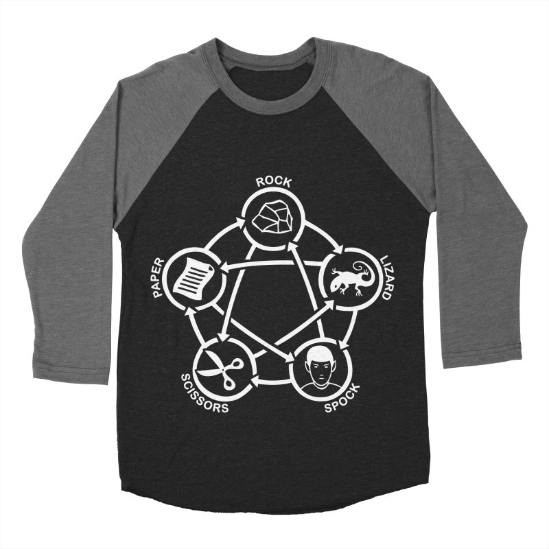 Rock Paper Scissors Lizard Spock Men's Baseball Triblend Longsleeve T-Shirt by Synner Design