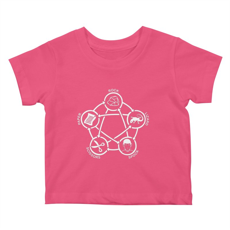 Rock Paper Scissors Lizard Spock Kids Baby T-Shirt by Synner Design