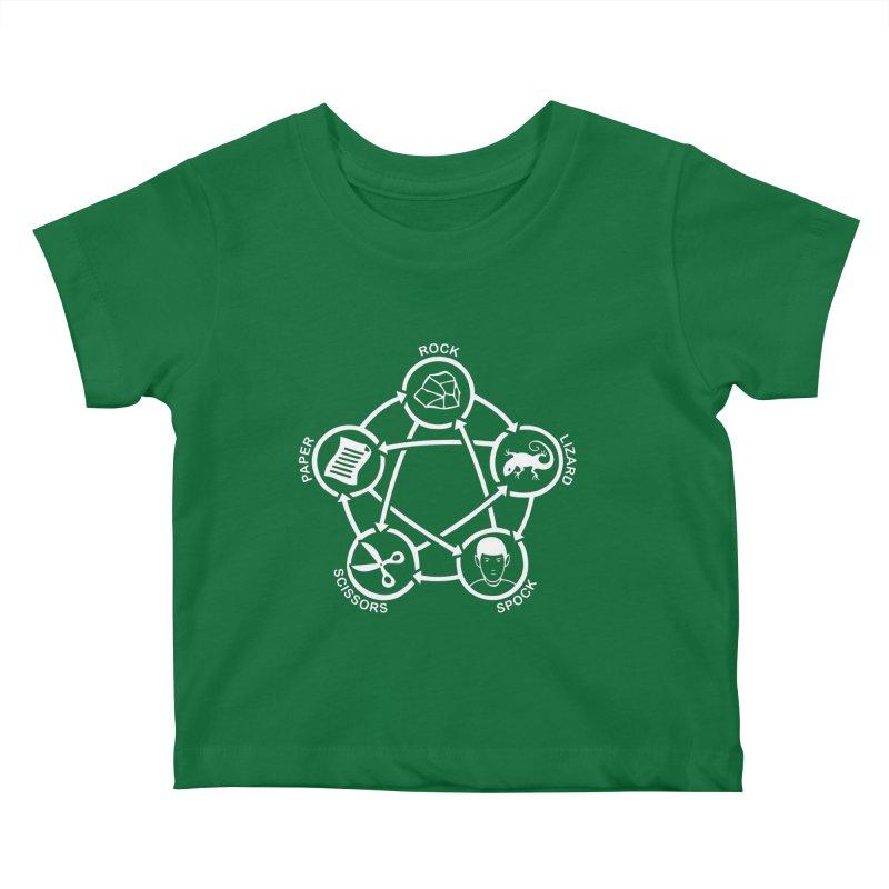 Rock Paper Scissors Lizard Spock Kids Baby T-Shirt by Synner Design