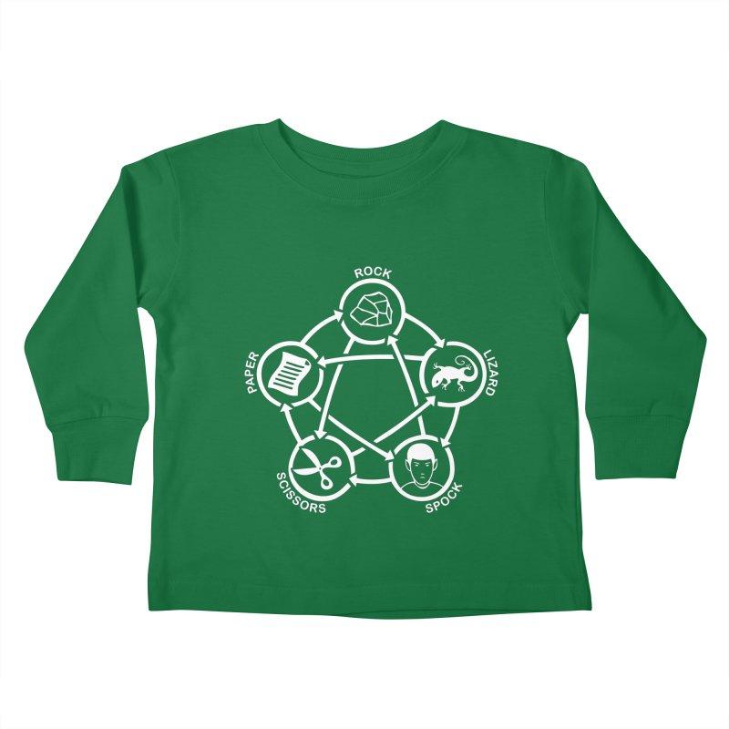 Rock Paper Scissors Lizard Spock Kids Toddler Longsleeve T-Shirt by Synner Design