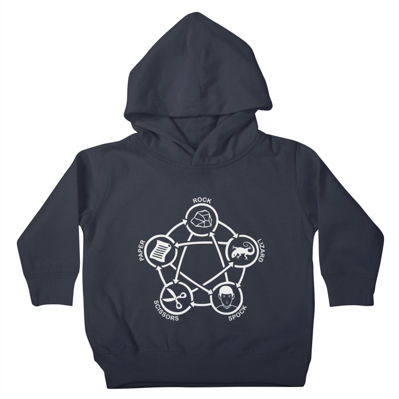 Rock Paper Scissors Lizard Spock Kids Toddler Pullover Hoody by Synner Design